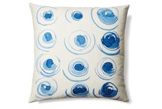 Svetlana 20x20 Cotton Pillow, Blue
