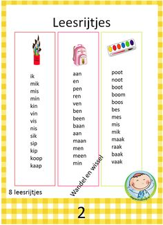 Lezen met kernen – Weg van onderwijs Cooperative Learning, Kids Learning, Letter School, Learn Dutch, Dutch Language, Teaching Strategies, Writing Practice, Creative Teaching, Preschool Worksheets
