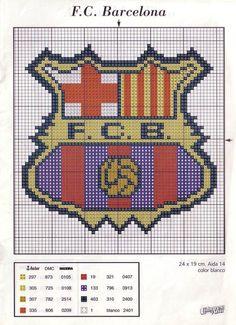 Gallery.ru / Foto # 2 - Las Labores de Ana Escudos de Futbol - tymannost Knitting Patterns, Crochet Patterns, Crochet Cushions, Create And Craft, C2c, Embroidery Kits, Hama Beads, Pixel Art, Needlework