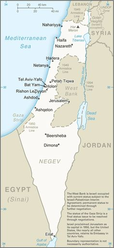 Israel, the West Bank and Gaza Strip are at the center of the Israeli-Palestinian conflict. Haifa, Tel Aviv, Jerusalem, Gideon Bible, Israel Country, International Map, Country Information, Geography For Kids, The Tribulation