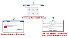 FB AmzShop Creator - Easy way to Build Niche Amazon Affiliate Stores in Facebook Pages