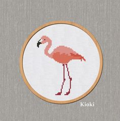 Cross Stitch Pattern Flamingo Instant Download