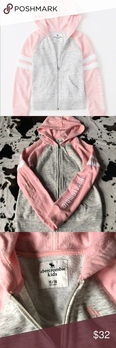 Girl's Abercrombie Kids Purple Hoodie Size 15/16 Worn for about a month, just was not my daughters style. I bought it for about $40 with tax at Abercrombie.  OBVIOUS SIGNS OF WEAR/wash!  I also have a purple version for sale on my page if you are interested, that version is also sold out in stores & online!  Smoke and pet free home! BUNDLE  AND SEND AN OFFER • No Lowballs🚫 abercrombie kids Shirts & Tops Sweatshirts & Hoodies