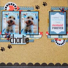 #papercraft #scrapbook #layout.  Hello....My+Name+Is+Charlie - Scrapbook.com
