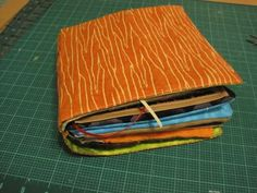 One way to assemble a quiet book, with stitched-in pages.