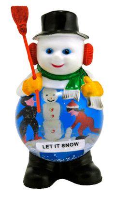 Let it Snow Man snow globe  from snowdomes.com