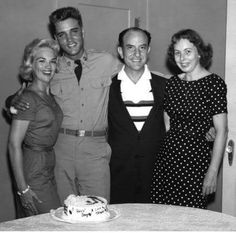 May 17, 1958: Elvis and girlfriend Anita Wood, with Eddie and LaNelle Fadal in Waco, Texas.