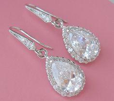 Bridal Earrings Wedding earrings Bride Earrings by CherryHills, $43.00