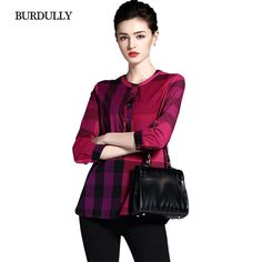 24d1f96037c7 BURDULLY England Style Elegant Summer Women's Plaid Shirt Female Cotton  Fashion Blouse Red And Black Patchwork