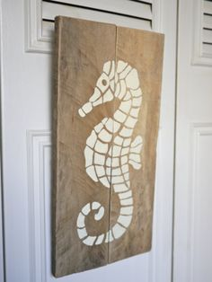 Seahorse PAINTED SIGN by HandyGerl on Etsy, $18.00