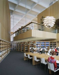 Turku city library / jkmm architects architecture: library а Nyu Library, Public Library Design, City Library, Modern Library, Library Books, Library Architecture, Contemporary Architecture, Contemporary Kitchens, Saint Roch
