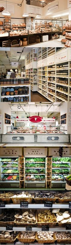 Eataly in New York City - comforting but also modern, not too feminine. Start way smaller - jewel box