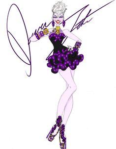 ….*☆.¸.☆*' ….*☆.@@ ☆*' .*☆.@@@@☆*' ….@@@@@@ …☆*@@@@`*☆.¸¸ …….\\\||///. ……..\\||//. ………ƸӜƷ. ♥ ♥\|/..♥♥ ♥ ♥♥Disney villains, Ursula by Daren J