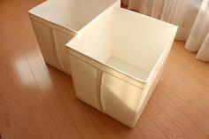 イケアの収納箱は、安くて軽くて、取っ手がついていて高いところの収納にうってつけ。容量もたっぷりの大き目サイズです。 Home, Ad Home, Homes, Haus, Houses