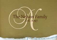 Family Name sign Decal  Custom Name Decal  Vinyl by yoyowalldecal, $17.00