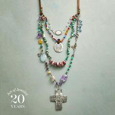 Jes MaHarry Gemstone Charm Necklace                                              | Robert Redford's Sundance Catalog