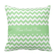 Mint Green Chevron Pillow................. This design features a mint green chevron pattern. Add some color to any room with this pillow.