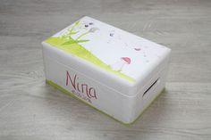Kisten & Boxen - Spitzbub Erinnerungsbox Kiste - Pusteblume Pilz - ein Designerstück von Spitzbub bei DaWanda