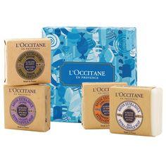 L'Occitane shea soaps - verbena or lavender (or verbena soap from TJ's - better price!)