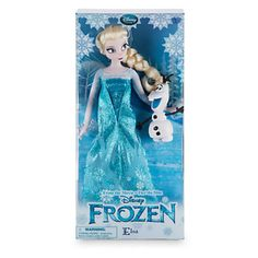 """Disney Store Princess Elsa with Olaf 12"""" Classic Doll New with Box"""