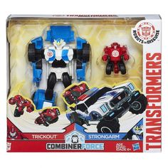 Transformers Robots In Disguise: - Activator Combiners Strongarm & Trickout #TransformersHasbro