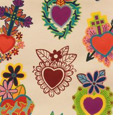 Alexander Henry Corazones Primavera Mexican Heart Tattoo FQ Rockabilly 50s retro