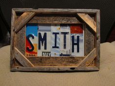 SMITH License Plate Art Personalized License by CobaltMoonJewelry