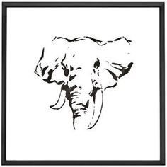 f11dcdb40548f0 Majestic Mirror Square Abstract Elephant Framed Painting Print