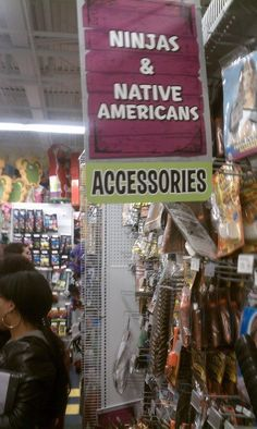 """wtf..... Kind of relieved that they didn't label it """"JAPANESE & Native Americans"""", but still """"Native American accessories""""? WTF?! https://www.facebook.com/photo.php?fbid=145557088947267=pb.130890747080568.-2207520000.1364354113=3"""