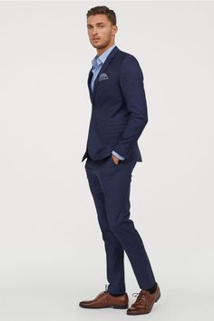 Skinny Fit Suit Pants Dark blue Men H&M US is part of Skinny fit suit pants - Suit pants in woven stretch fabric Concealed hookandeye fastener, zip fly, side pockets, and welt back pockets Legs with creases Skinny fit slightly Mens Fashion Suits, Mens Suits, Men's Fashion, Fashion Pants, Classy Mens Fashion, Fashion Eyewear, Fashion Shirts, Fashion Editorials, Fashion Watches