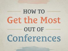 Going to a conference soon or even thinking about it? How to prepare: http://seanwes.com/158