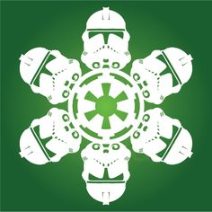 Clone Trooper Star Wars Snowflake Template (31 others here) for the older kids