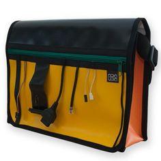 """Bolso/Bandolera Araura realizado a mano y en materiales reciclados """"Cables"""" / Araura recycled and handmade bag/bandolera """"Cables"""" (Pieza única / Unique piece) -- Precio/Price: 50,40 €"""