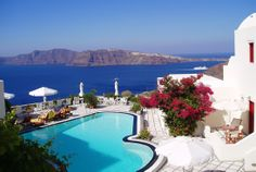 Nikos Villas Santorini Hotel in Oia. Our honeymoon hotel, August 2003.