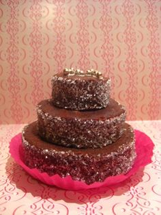 homemade mini brownie wedding cakes rolled in granulated sugar.  these are a little bigger than a cupcake, I would want smaller wedding-ideas-general lovable-food