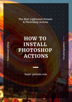 How to Install Photoshop Actions in Photoshop CC (Installation Instructions)  #photoshop #designtutorials #graphicdesign #design