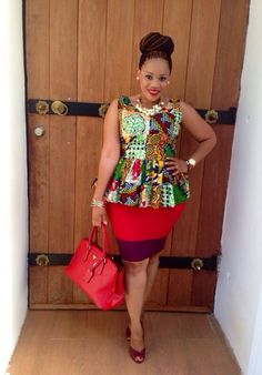 Peplum top designed by Kiki Zimba I'm gonna have to recreate this