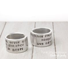 Friendship Rings Hand Stamped Rings Handstamped by PureImpressions, $28.00