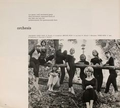 Athena yearbook, 1967. Orchesis was the modern dance student group. :: Ohio University Archives