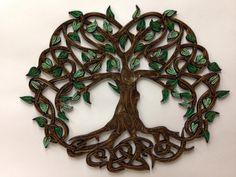 Celtic Tree Of Life quilled art  Framed art 11x14