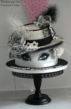 Hats and Lashes Cake by Mother and Me Creative Cakes