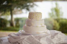 Julie and Tony's wedding cake from Hunter's Bakery