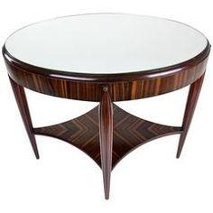 Art Deco Zebrano Console Table, France, 1930's
