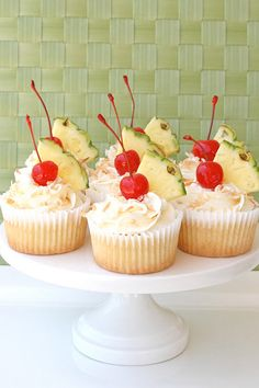 Pineapple Cupcakes with Coconut Cream Cheese Frosting-Made these the other day! Turned the icing into pina colada, though. :) I've been asked to make them much more often!