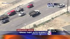 California High Speed Police Chase Bank Robber In Stolen Flat-Bed Truck ...
