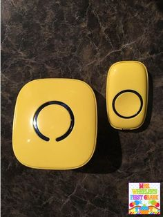 Doorbell as a transition tool! Such a neat idea!