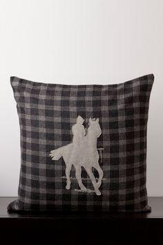 Equestrian Wool Blend Pillow//