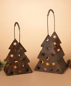Take a look at this Metal Tree Lantern - Set of Two today!
