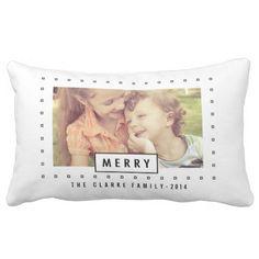 Modern Merry   Holiday Photo Throw Pillow
