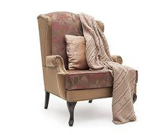 Elizabeth Douglas Кресло Duart - итальянский текстиль - медь, 92х86х117 см